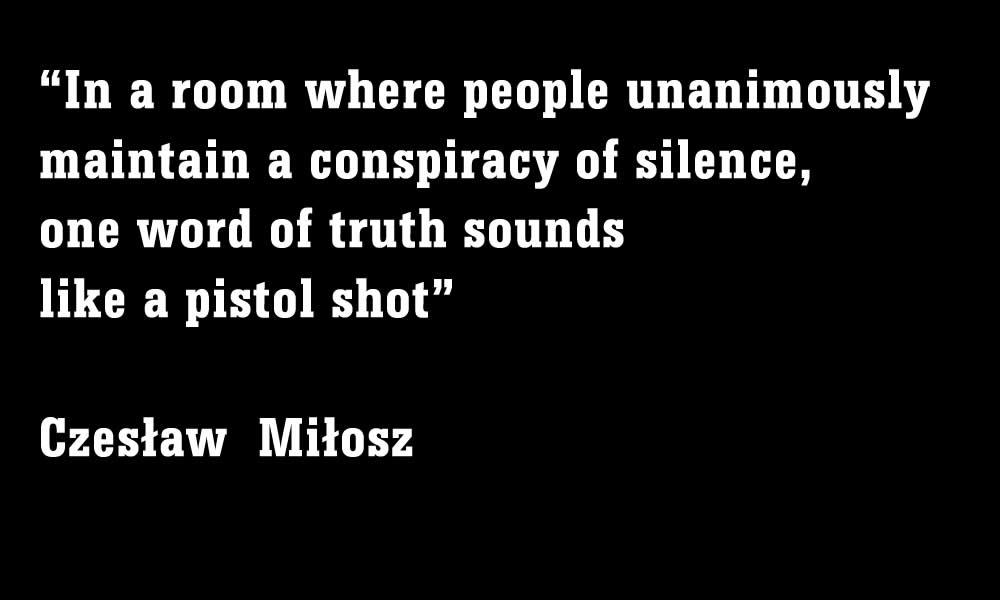 Unanimous Silence Czeslaw Milosz