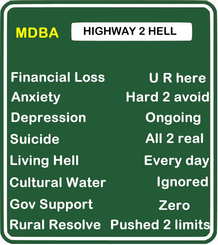 The MDBA Highway to Hell
